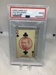 1927 W560 Walter Hagen 2 Clubs Psa 2 Only 10 Total Graded 4 Higher Rare