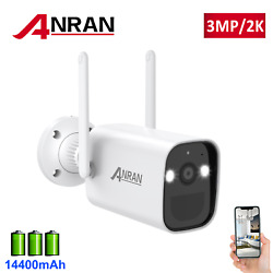 Anran Battery Powered Wireless Outdoor Security Camera Wifi Home 3mp 2 Way Audio