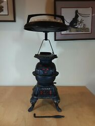 Antique Cast Iron Pot Belly Wood Stove Salesman Sample Never Used