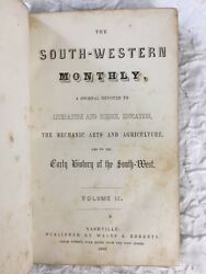 Rare 1852 Tennessee Early History Southwest Nashville Indian Murders Battles 1st