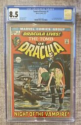 Tomb Of Dracula 1 1972 Cgc 8.5 1st Appearance Neal Adams Cover