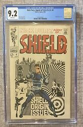 Nick Fury Agent Of Shield 4 1968 - Cgc 9.2 - White Pages - Jim Steranko