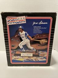 Hank Aaron Autographed Sports Impressions Statue 654 Out Of 755. Coa Included