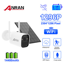 Wireless Outdoor Security Camera 3mp Audio Wifi Battery Powered With Solar Panel