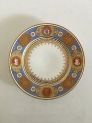 Bing And Grondahl Plate From The Oldenborgske Stel From 1861, Designed By