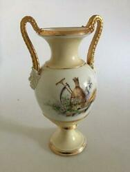 Bing And Grondahl Early Vase With Overglaze Decoration And Roman/greek Bisque