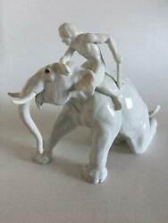 Bing And Grondahl Figurine Mahout With Elephant No 1858