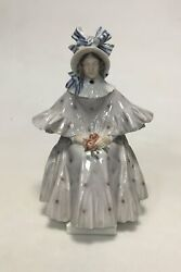 Royal Copenhagen Figure Of Woman With Roses By Christian Thomsen No 1785