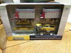 1/64 New Holland Fr9090 Forage Harvester Set With Wagons Rare Ertl