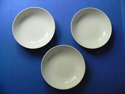 Set Of 3 Pottery Barn Great White Coupe 8 1/4 Soup Bowls
