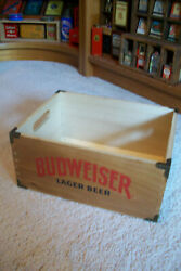 Wooden Budweiser Lager Beer Crate......2016....not Old