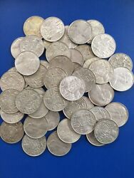 50 X 1966 Round 50c Silver Coin Australia Fifty Cents Only 15 Each