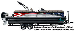 Abstract Wood American Flag Graphic Kit Decal Fishing Boat Wrap Vinyl Pontoon