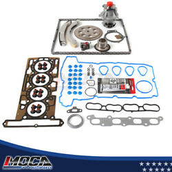 Head Gasket W/ Timing Chain Kit Water Pump For 04-06 Chevrolet Gmc Canyon Dohc