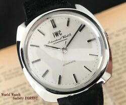 Antique Watch Automatic Cal.854b Silver One Piece Case Fish Crown 37mm
