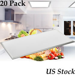 20 Set 64w 2ft4ft Led Troffer Panel Light Recessed Dropped Ceiling Down Fixture