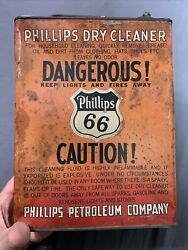 Vintage Rare Phillips 66 Dry Cleaner One Gallon Slim Badge Oil Can