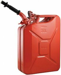 Authentic Nato Wavian Military Fuel/gas/diesel Steel Can - Red W/ Spout