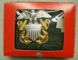/us Navy Officer Cap Badge And Cap Band For Visor Cap