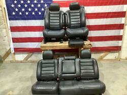 03-07 Hummer H2 Black Leather Heated Seat Set 2 Rows With Console Lid 40k