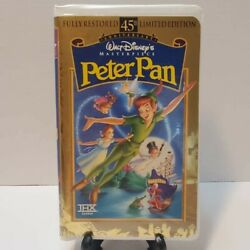 Walt Disney's Peter Pan Vhs, 1998, 45th Anniversary Limited Edition Amazing