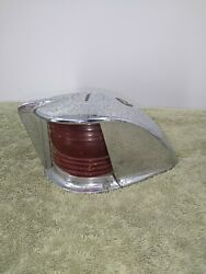 Vintage Large Boat Bow Light Nautical Marine Chrome Red And Green Lens