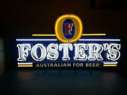 Fosters Lager Beer Giant Neon Light Up Sign Game Room Man Cave Australian