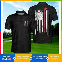 Golf Nation American Flag Polo 3d All Over Printed Shirt S-5xl