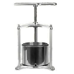Free Postag New 2.3l Multi-purpose Ss/alloy Presse For Wine/cider/cheese Making