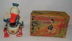 Scarce Ex Boxed Setdisney 1930and039s Donald Duck Celluloid Waddler Wind-up Toy👍