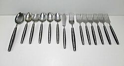 Lc Bamboo Stainless Flatware Blk Synthetic Handles Japan 14 Pcs Lifetime Cutlery