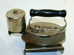 Vintage Antique Gas Powered Iron Press 1900and039s Gasoline Flat Laundry With Stand