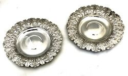 Pair Of Antique George Iv Silver Alms Dishes By Samuel Hennell London 39.88ozt