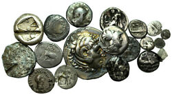 Forvm Lot Of 19 Ancient Greek Silver Coins 0.204 - 15.557 G 7.2 - 33.5mm