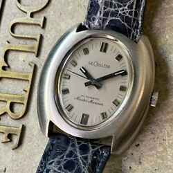 1960s Antique Le Coultre Master Mariner Oval Automatic 21 Jewels Design Rare