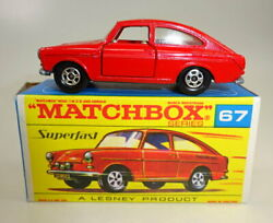 Matchbox Superfast No. 67a Vw 1600 Tl Rare Red Body Transitional Issue M/b