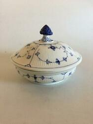 Bing And Grondahl Blue Fluted Plain Tureen With Lid