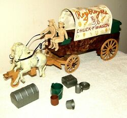 Vintage Ideal Roy Rogers Chuck Wagon Playset Dale Evans With Accessories.