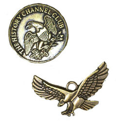 Brass Coin Token The History Channel Club 1776 Liberty Bell And Eagle
