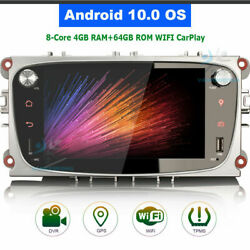 Android 10.0 Car Radio Bt Wifi Gps Sat Navi For Ford Mondeo Focus S/c-max Mondeo