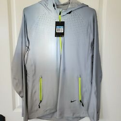 Nwt Nike Vapor All Over Flash Running Jacket Silver Volt Reflective M 577584-070