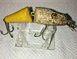 Vintage Creek Chub 2700-y Pickerel Pikie Jointed Pikey In Yellow Fishing Lure