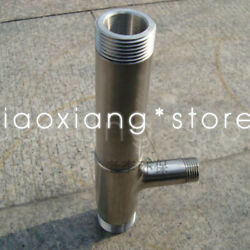 1x Dn20/25 Stainless Steel Ejector Water Ejector Gas-water Mixing Suction Pipe