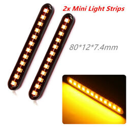 2 X High Power And Super Bright Motorcycle Mini Led Strips Turn Signal Lights