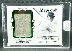 1/3 Babe Ruth 🐐 2020 Flawless Legend Jumbo Materials Huge Game Used Relic Goat