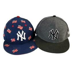 New York Yankees Fourth Of July Flag Hat 7 1/4 New Era 7 1/8 Fitted Gray Cap