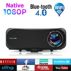 Led 8500lms Android 6.0 Projector 5g Wifi Bt Native 1080p Home Theater Hdmi Zoom