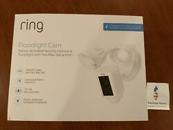 Ring Floodlight Camera Motion-activated Hd Security Cam White Alexa Open