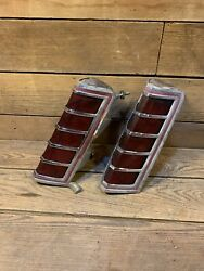 1977 1978 1979 Lincoln Continental Mark V Lh And Rh Taillight Assemblies Oem Used