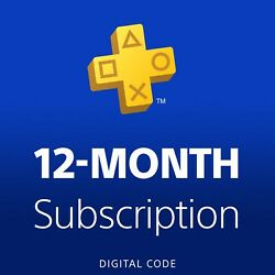 Digital Code Sony Playstation Ps Plus 12 Month/1 Year Read Usps First Class